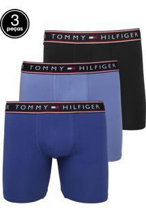 3cff1d21734eec Kit 3pçs Cueca Tommy Hilfiger Boxer Stretch Azul