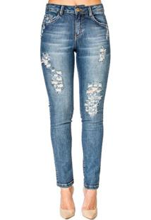 Calça Jeans Destroyed Realist