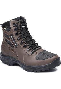 Bota Tatico Militar 100% Impermeavel Gogowear 100% Couro Ref Roadstar Cor Burnet - Kanui