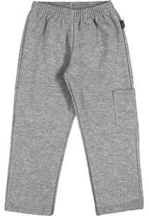 Calça Primeiros Passos Menino Moletom - Masculino-Cinza