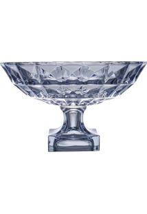 Fruteira Com Pé Adamant- Cristal & Azul Escuro- 32,5Wolff