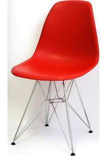 Cadeira Eames Polipropileno Vermelha Base Cromada - 14903 Sun House