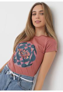 Camiseta Roxy Explosion Rosa - Rosa - Feminino - Dafiti