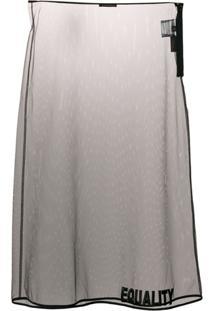 Versace Saia Translúcida - Preto