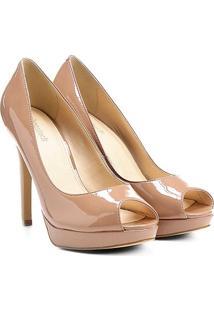 Peep Toe Shoestock Meia Pata - Feminino