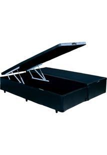 Cama Box Bau King Size Bipartido Preto 1,93 X 2,03