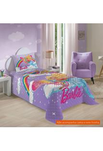 Colcha Infantil Barbie Reinos Mágicos (150X210) Algodão Lilás