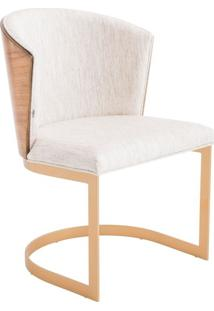 Cadeira Maggy Estofada Base Aço Carbono Pintado Star Mobile