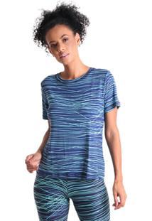 Camiseta Radiosa Grafic B Líquido Azul Marinho