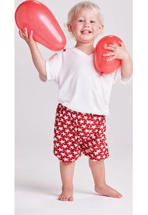Pijama Curto Malha Stars Kids Masculino