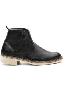Bota Valente Boots Basic Lisa Tradicional Cano Curto Masculina - Masculino-Preto