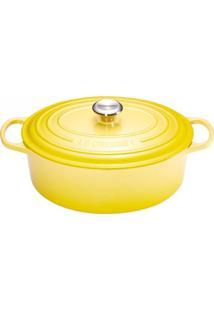 Panela Oval Signature 27 Cm Amarelo Soleil Le Creuset