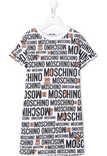 Moschino Kids Vestido Com Logo - Branco