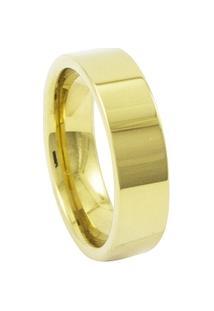 Aliança De Tungstênio New Tungsten 6Mm Reta Gold - Unissex