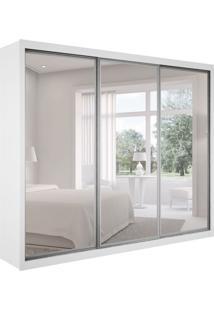 Guarda-Roupa Casal Com Espelho Ravena Top 3 Pt 6 Gv Branco