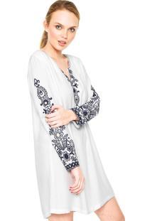 Vestido Anany Curto Evasê Branco