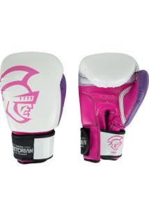 Luvas De Boxe Pretorian Elite Training - 14 Oz - Adulto - Branco/Rosa