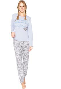 1d8eb02e6 Pijama Borboleta Gola Redonda feminino