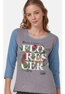 Camiseta Manga Longa Feminina Luan Santana Florescer - Feminino