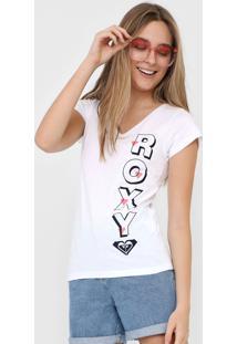 Camiseta Roxy Letrer Branca - Kanui