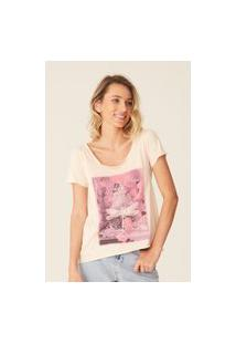 Camiseta Oneill Feminina Damselfly Rosa