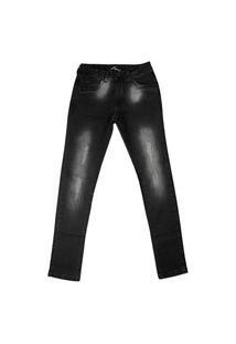 Calça Jeans Infantil Oznes Menino Preto