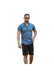 Bermuda Faro Jeans Preta