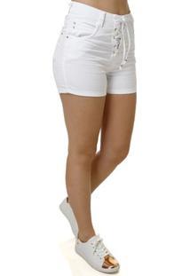 Short Jeans Feminino Branco