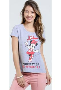 Blusa Feminina Estampa Minnie Manga Curta Disney