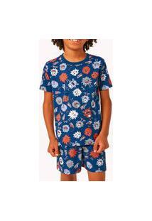 Pijama Malwee 1000077434 Infantil Azul