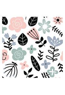 Papel De Parede Floral Escandinavo 57X270Cm