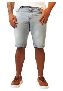 Bermuda Jeans Masculina Sandro Moscoloni Basic Azul Claro Jeans
