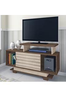 Rack Para Tv Até 32 Polegadas Bali 1 Porta Flex Mocaccino Rústico/3D Carvalho Rústico - Atualle Móveis
