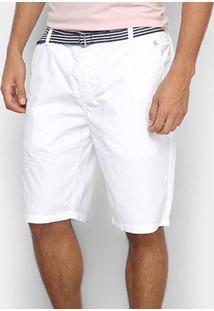 Bermuda Vr Chino Paper Com Cinto Masculina - Masculino-Branco