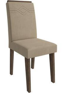 Cadeira Taís Com Moldura Caramelo Marrocos