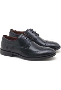 Sapato Social Spazzolato Oxford Masculino Preto