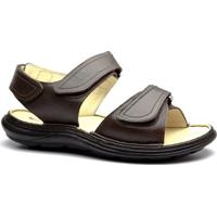 a25189ea0f Sandália Masculina 917301 Em Couro Floater Doctor Shoes - Masculino-Café