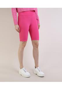Bermuda Feminina Mindset Ciclista Cintura Super Alta Pink