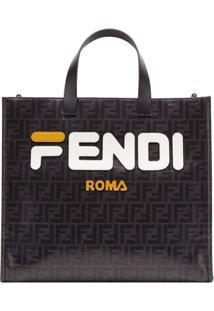 b54c74335 Fendi Bolsa Tote Fendimania Shopping S - Preto
