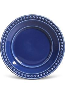 Conjunto De Pratos De Sobremesa Porto Brasil Atenas 6Pçs Azul-Marinho