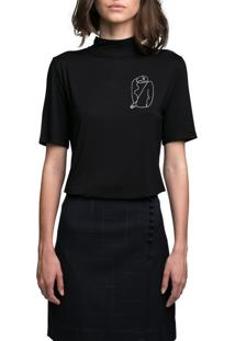 Camiseta Envy Gola Alta Preta