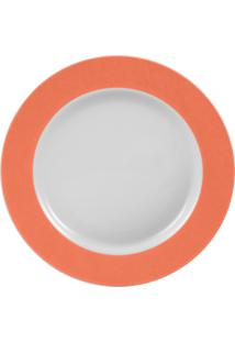 Prato Sobremesa Porcelana Schmidt - Matte Coral
