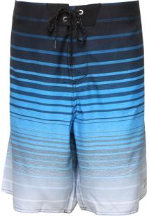 Bermuda Água Billabong Reta All Day Stripe Pro Preta/Azul