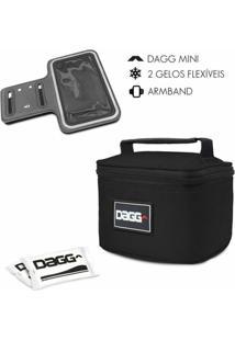 Kit Com Mini Bolsa Térmica Fitness Dagg 900Ml E Braçadeira Armband - Unissex