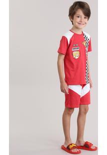 """Pijama """"World Race"""" Vermelho"""