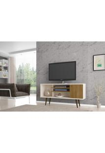 Rack Para Tv Até 55 Polegadas 1 Porta Safira Móveis Bechara Off-White/Cinamomo
