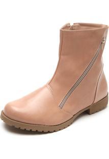 Bota Dafiti Shoes Fosco Nude