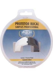 Protetor Bucal Punch Dual Color - Adulto - Branco/Preto