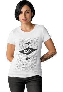 Camiseta Feminina Ezok Skate Lane Branco