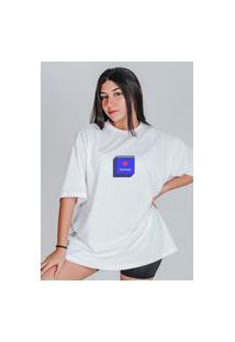 Camiseta Feminina Oversized Boutique Judith Amor Não Encontrado Branco